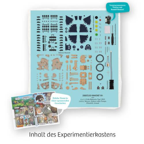 wie EIN echter Igel Kosmos 620066 Nuna Dein Igel-Roboter Faszinierender Bionik- stellt Seine Stacheln auf Er L/äuft R/ückw/ärtsrollen durch klatschen Chipz rollt Sich zusammen