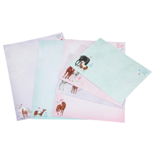 Miss Melody Briefpapier in Fächermappe Motivpapier Depesche 8086 Set Briefset