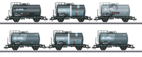 Märklin 46436 H0-Kesselwagen-Set VTG gealtert