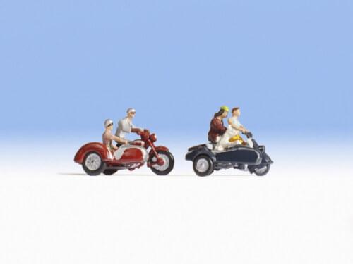 H0-Motorradfahrer