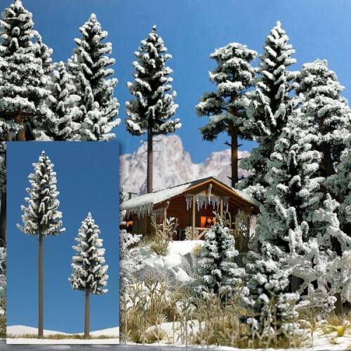 2 Schnee-Fichten, 130/195 mm