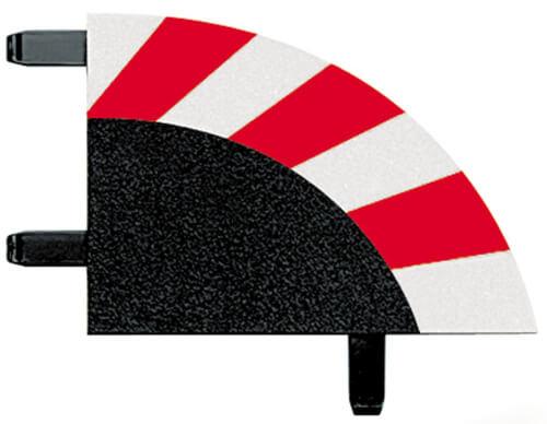 CARRERA DIGITAL 124 - Außenrandstreifen für Kurve  2/30° (6), Endstücke (2)