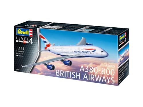 Revell 03922 Modellnachbildung A380-800 British Airways 1:144, ab 14 Jahre