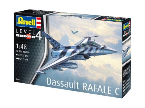 REVELL 03901 Modellbausatz Dassault Aviation Rafale C 1:48, ab 12 Jahre