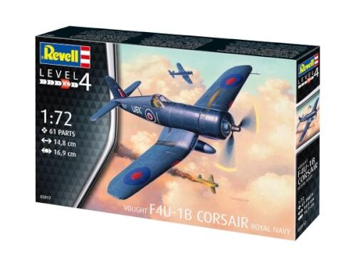 Revell 03917 Modellbausatz F4U-1B Corsair Royal Navy 1:72, ab 12 Jahre