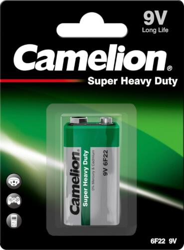 Camelion Super Heavy Duty Batterien, 9V, Block Blister