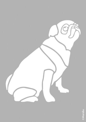 Marabu Schablone DIN A4 cm Pug Dog