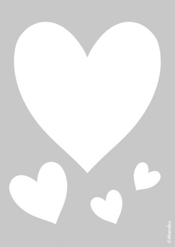 Marabu Schablone DIN A4 cm Small Hearts