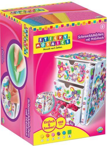 Sticky Mosaics Schmuckkästchen mit Notizbuch