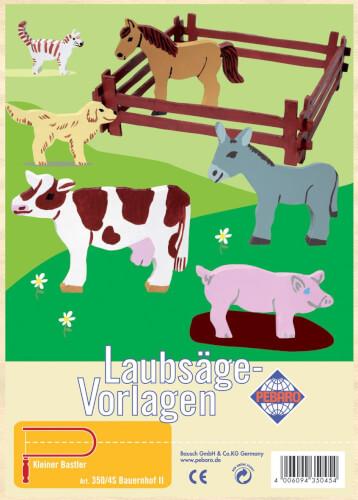 Laubsägevorlage Bauernhof
