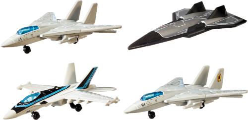 Mattel GPF72 Matchbox Top Gun Skybusters Then & Now 4er Pack