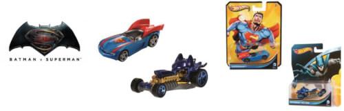 Mattel Hot Wheels DC 1:64 Character Fahrzeuge, sortiert