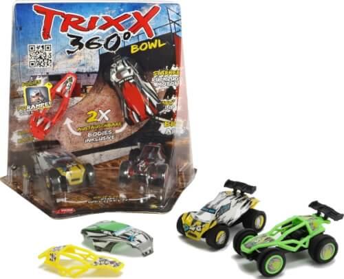 Dickie Trixx 360 - 2 Action-Autos inkl. Corner-Bowl-Ramp und Zubehör, Kunststoff, ab 3 Jahre