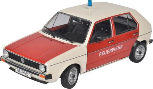 Schuco  1:18 VW Golf  Feuerwehr