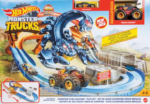 Mattel GNB05 Hot Wheels Monster Trucks Skorpion Beschleuniger Rennbahn Set