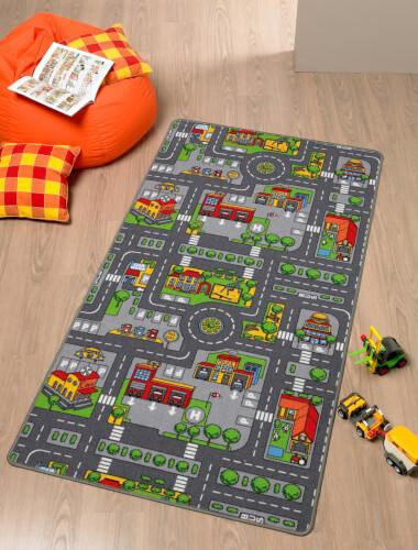 Spielteppich City 80 x 120 cm