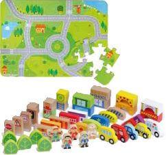 City Puzzle mit Holzzubehör