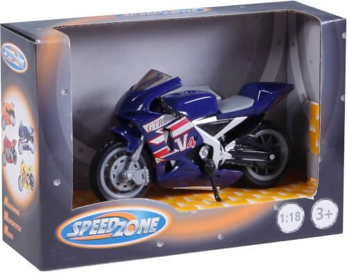 Speed Zone D/C Motorräder 1:18, 8-fach sortiert, ca. 11,20x4x6,40 cm, ab 3 Jahren (nicht frei wählbar)