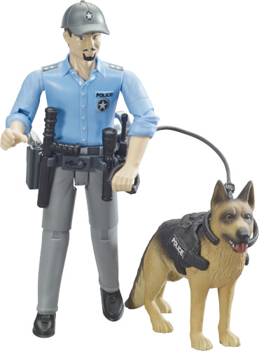 Bruder 62150 bworld Polizist mit Hund