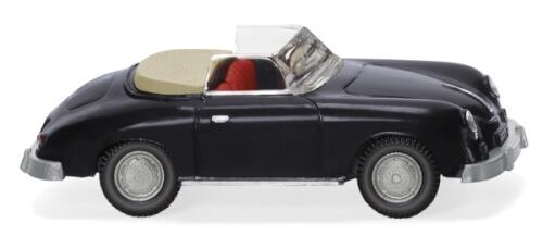 Wiking Porsche 356 Cabrio - schwarz