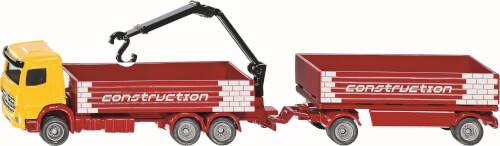 SIKU 1797 SUPER - Baustoff-LKW mit Anhänger, 1:87, ab 3 Jahre