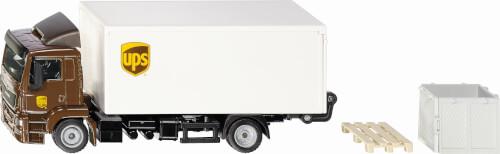 Siku 1997 MAN LKW mit Kofferaufbau und Ladebordwand UPS