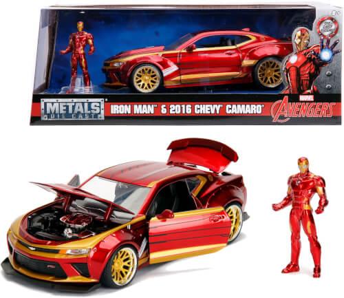 Jada Marvel Ironman 2016 Chevy Camaro SS 1:24