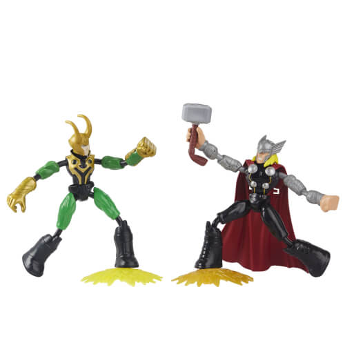 Hasbro F02455L0 Avengers Bend and Flex Thor gegen Loki