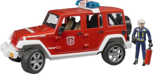 Bruder 02528 Jeep Wrangler Unlimited Rubicon Feuerwehrfahrzeug mit Feuerwehrmann