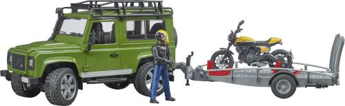 Bruder 02589 Land Rover Defender mit Anhänger