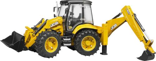 Bruder 02454 JCB 5CX eco Baggerlader, Maße: 46,5 x 18,5 x 26 cm, Kunststoff, an 3 Jahre