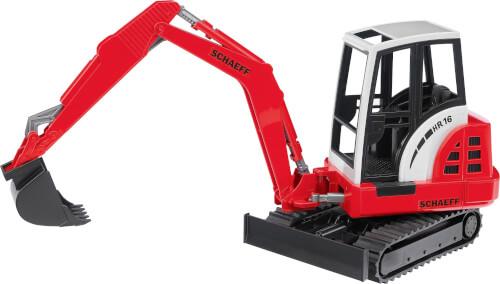Bruder 02432-Schaeff HR16 Minibagger, ab 3 Jahren, Maße: 29,5 x 12,5 x 21 cm, Kunststoff