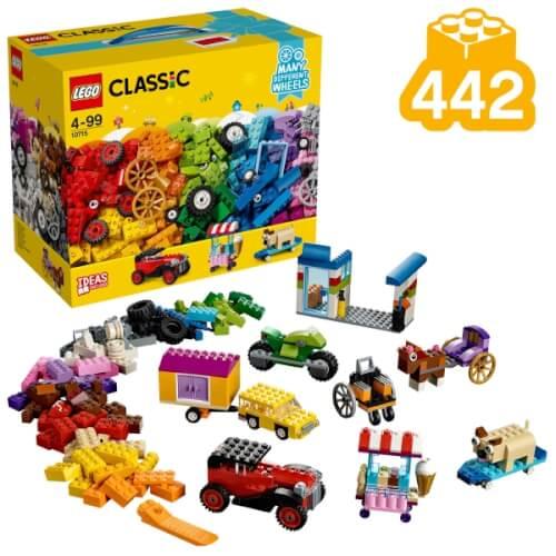 LEGO® Classic 10715 Kreativ-Bauset Fahrzeuge, 442 Teile, ab 4 Jahre