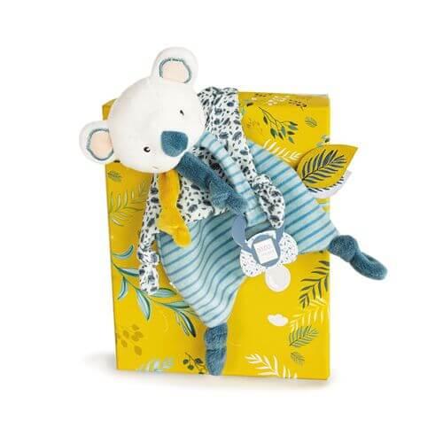 Doudou - Koala Schmusetuch mit Schnullerhalter 20cm