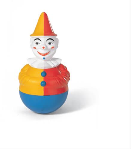 rollyToys Stehaufclown - Clown mit Glockensound