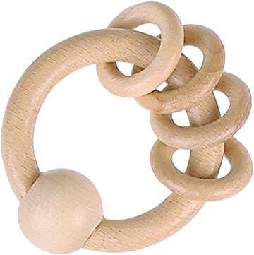GoKi Greifling mit 4 Ringen, natur