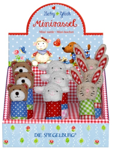 Die Spiegelburg - BabyGlück Minirassel Lieblingstiere, Greiflinge, ab 0 Monaten, sortiert