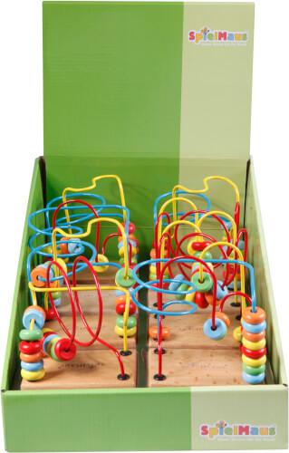 SpielMaus Holz Motorikschleife klein, 12 cm, ca. 10x7x12 cm, ab 12 Monaten