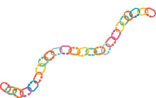 RothoPlaygro Kinderwagenkette Loopy Links, 24-teilig
