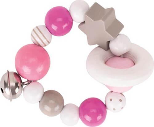 GoKi Greifling Elastik pink, grau, weiß