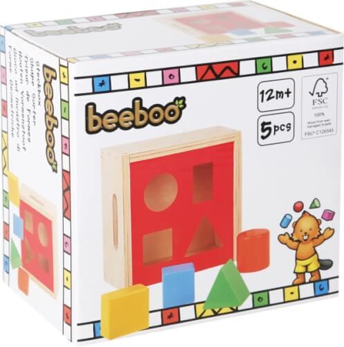 SpielMaus Holz Steckbox, 6-teilig