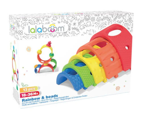 Lalaboom - Regenbogen-Stapelspiel, 13-teilig
