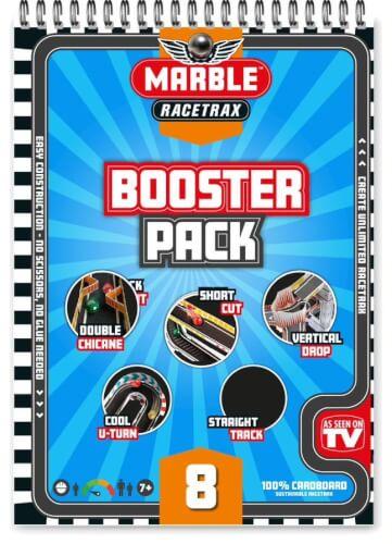Marble Racetrax Murmel Rennbahn - Booster Pack: Zusätzliche Stunts - 8 Bögen