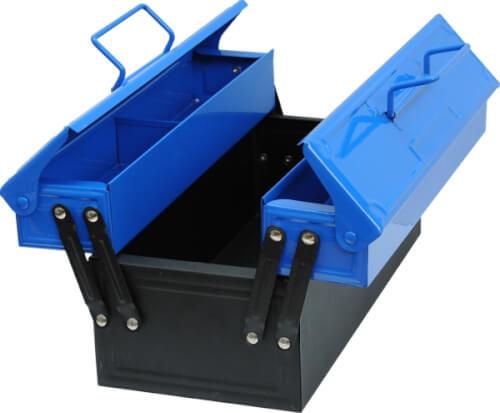 CORVUS Kids at Work Metall - Werkzeugkasten blau