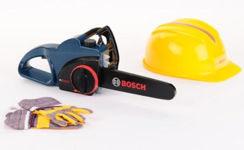 Theo Klein Bosch Kettensäge + Helm + Handsch