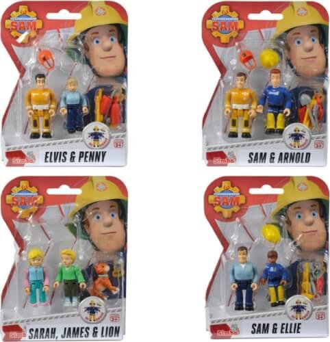 Simba Feuerwehrmann Sam - Figuren-Doppelpack 2, sortiert