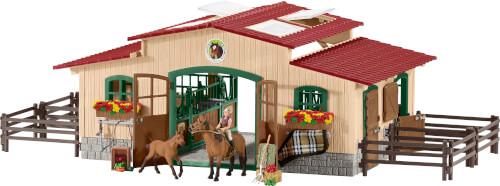 Schleich Farm World 42195 Pferdestall mit Pferden und Zubehör