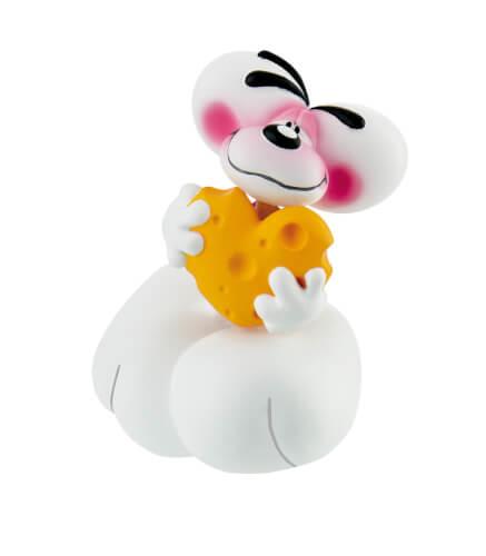 Bullyland Diddl mit Käse Spielfigur