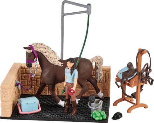 Schleich 42438 Horse Club Waschplatz mit Horse Club Emily & Luna