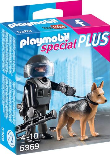 Playmobil 5369 SEK-Polizist mit Hund